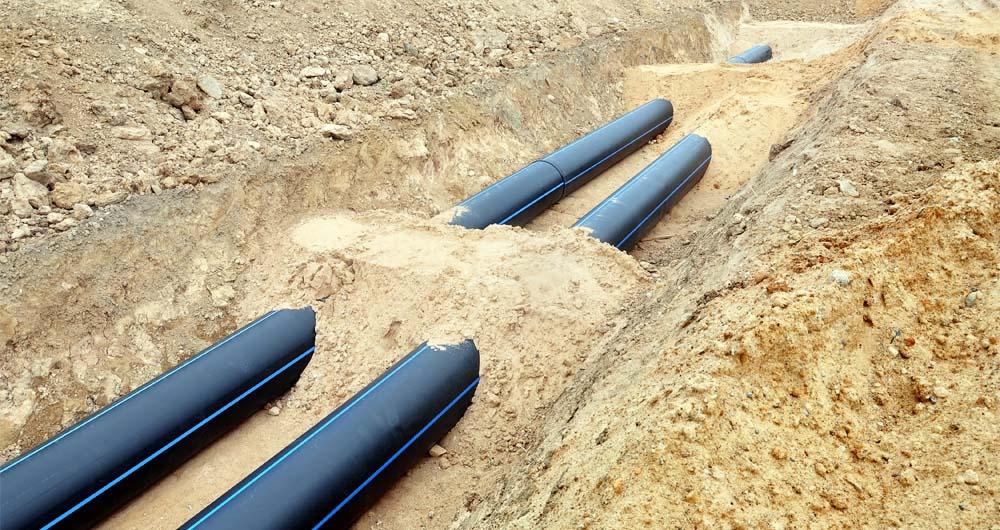 Подземно полагане на PE тръби